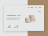 Luxury Skin Care - Minimal UI