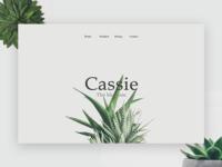 Cassie Blossom - Minimal UI