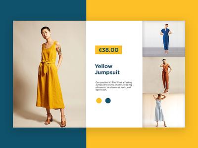 Jumpsuit - Product Page product design ui design ux design brand identity minimal landing page website website design minimalism typography