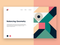Balancing Geometry  - Landing Page