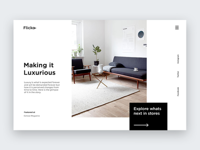 Flicko - Product Page webpage design minimal product design website design website ui design ux design landing page typography minimalism