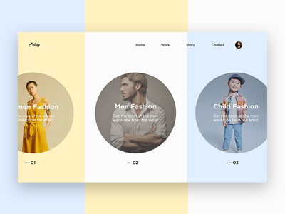 Fashion Minimal Concept webpage design website typography product design landing page ux design ui design website design minimalism