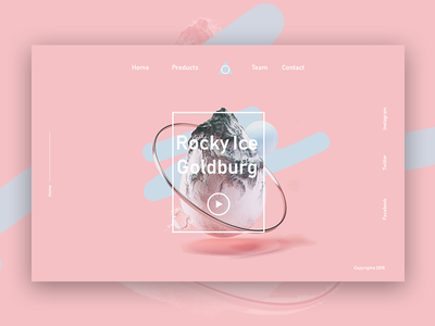 Icely - Landing Page  Dribbble website minimal product design ux design website design typography landing page ui design minimalism
