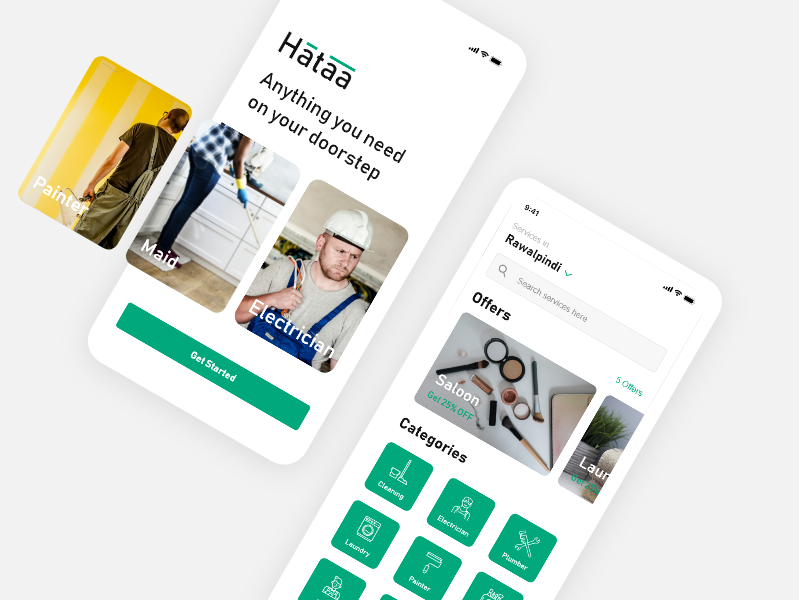 Hataba - On Demand Service App by Desinn Studio on Dribbble
