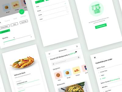 Restaurant Finder App - UI Design minimal mobile app design restaurant ios app mobile app minimalism ux design ui design