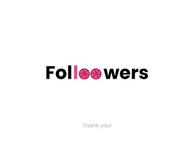 100 Followers 100followers typography minimal design desinnstudio dribbblecommunity dribbble followers