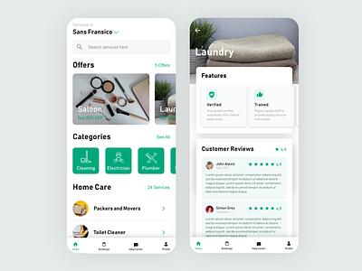 Hataba Mockup mobile app design ondemand ui design inspiration android app design handyman app ios app app ui design on demand service app minimal typography minimalism ux design ui design