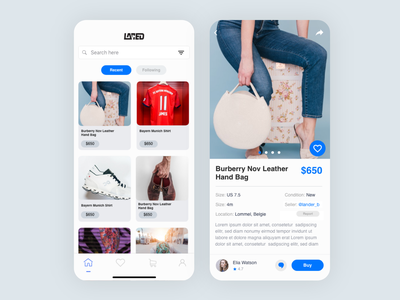 Laced - E-commerce App Design app concept app ui product listing product page homepage ecommerce app ecommerce app design ios design android app ios app app ui design product design minimalism ux design ui design