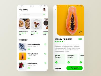 Food Finder iOS App restaurant branding ux design ui design ui trends restaurant detail product detail home page food listing food restaurant finder restaurant app food app