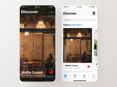 Coffee Cafe App UI Design - Freebie