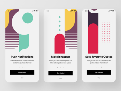 Abstract Onboarding Screen - Quotes App