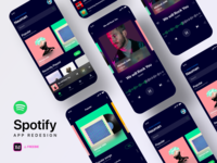 Spotify Redesign Challenge - Freebie