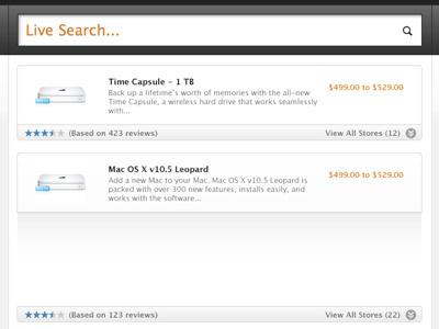 Live Search app