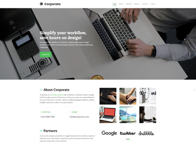 Corporate webdesign template rapidweaver