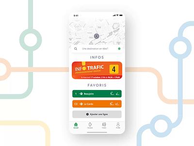 Public Transport, Reimagined. semitan tan nantes transport animation app icon ux ui illustration