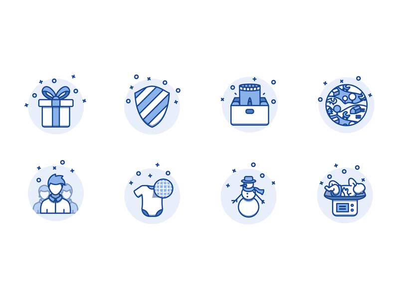 Illustrations for Baby Clothing Brand blue baby illustation web branding vector design icon