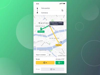 Transport App Interaction Concept
