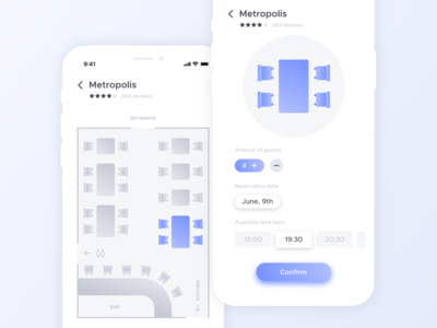 Table Reservation App Concept