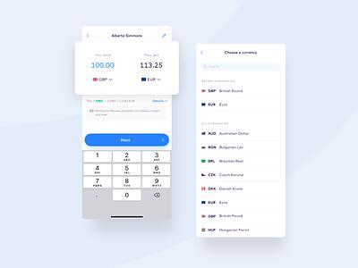 Monese FX calculator currency converter currency exchange calculator ui calculator fx fintech monese ui app design ux