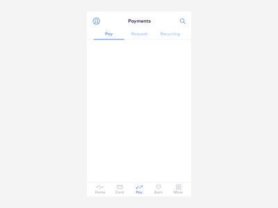 Find nearby Monese users bluetooth ux design monese payment interaction animation radar fintech