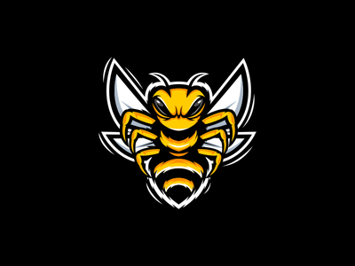 angry bee logoinspiration logos logo inspiration branding illustration vector logoidea logoinspirations logodesign logo mascot angrybee bee