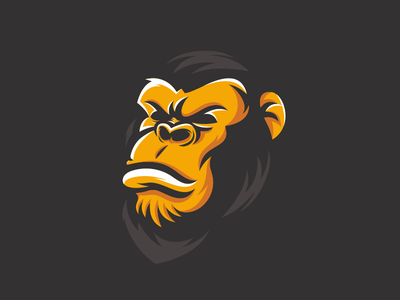 Gorilla design strong awesome logo logoinspiration animal logo idea logo inspiration logo ideas vector logoideas logoinspirations logoidea logos logo graphic design primates ape gorillas gorilla