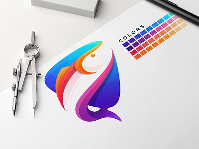 fish media logoideas vector logoinspirations logoidea logos logo youtuber technology social media fish logo fisherman fishing fish