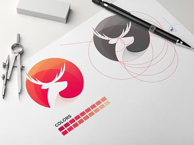 deer logo awesome logo logo inspiration logo ideas logoideas logoinspirations logoidea logos logo grid design grid logo designer design deer