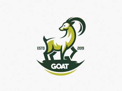 Goat logo design awesome logo best simple inspiration goat logo logo design vector goat ilustrator sports mascot esports masculine character designs brand esport branding logo