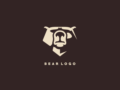 bear simple logo elegant simple logo icon bear ilustrator sports mascot games esports masculine character designs brand esport branding logo