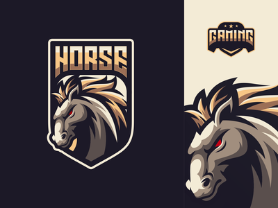 horse logo design animal horse icon gaming ilustrator mascot games esports masculine character designs brand esport branding logo