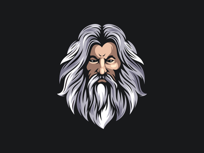Wizard design inspiration beard wizard zeus ilustrator icon sports mascot games esports masculine character designs brand esport branding logo