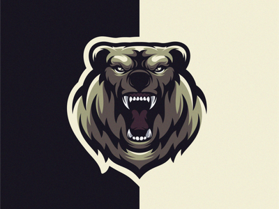 Bear logo design art vector teeth angry bear animal icon sports mascot esports masculine character designs brand esport branding logo