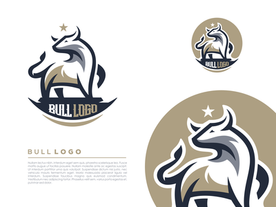 bull logo design animal illustration simple line art minimalist bull animal vector illustration icon games esports masculine character designs brand esport branding logo