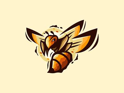 BEE graphic design animal bee illustration design masculine character designs brand esport branding logo