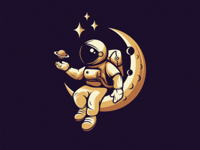 Astronout moon