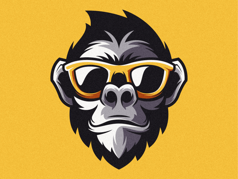 Monkey colorful fitness design animal vector logotype icon illustration mascot sports character esports masculine games designs brand branding esport logo