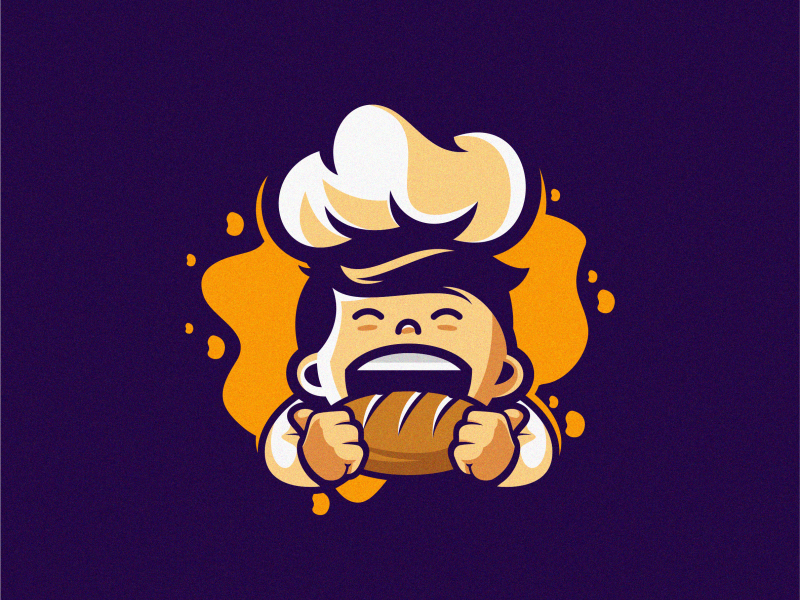chef logo app mark beard colorful vector logotype design illustration icon mascot sports character esports masculine games designs brand branding esport logo