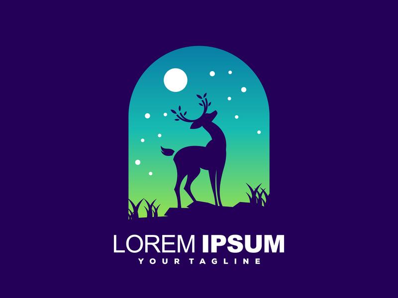 deer logo design app shirt games typography ui ux colorful animal vector logotype design illustration mascot character esports brand designs branding logo deer
