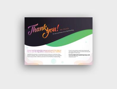 Amazon Product Insert, Thank You Card Design packaging insert card brochure product insert flyer design post card amazon review card amazon design amazon thank you
