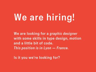 Dribbble Offer branding typedesign designer job