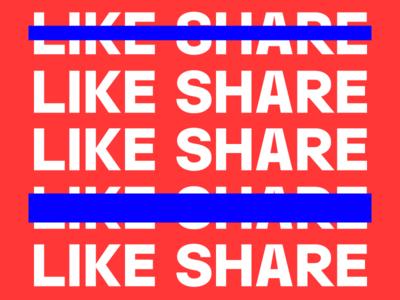 Like Share grotesk gothic font type typography preset poster share like celebration prototypo