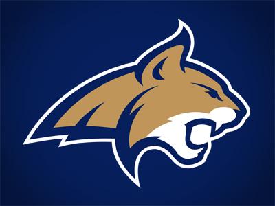 Montana State University montana state bobcats cat head growl teeth fierce