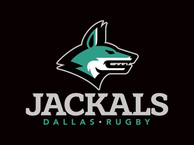 Dallas Jackals Rugby rugby jackal logo lettering mascot sports torch typography athletic custom illustration design