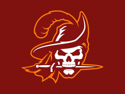 Tampa Bay Buccaneers Rebrand hat tampa dagger sword buccaneer pirate mascot sports athletic custom illustration design