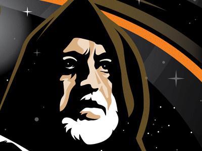 Obi Wan Kenobi design custom illustration star wars space torch disney graphic icon lucas film obi-wan