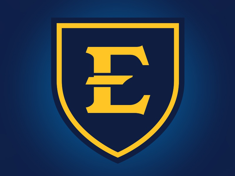 ETSU e etsu tennessee banner shield blue gold university education state