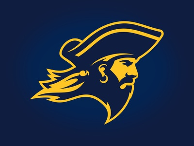 East Tennessee State University design custom stoic illustration athletic pirate buccaneer torch