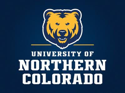 University of Northern Colorado Athletic Logo basketball baseball grizzly colorado bear athletics sports logo football design illustration custom