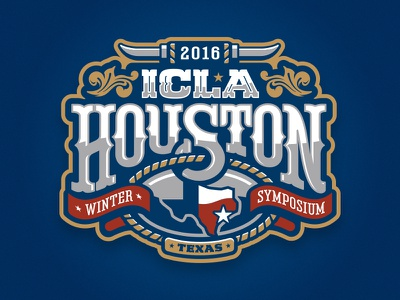 ICLA 2016 Houston, TX buckle horns western star texas font lettering typography hand drawn hand lettering custom type design